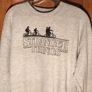 Gray Stranger Things Pullover Sweatshirt